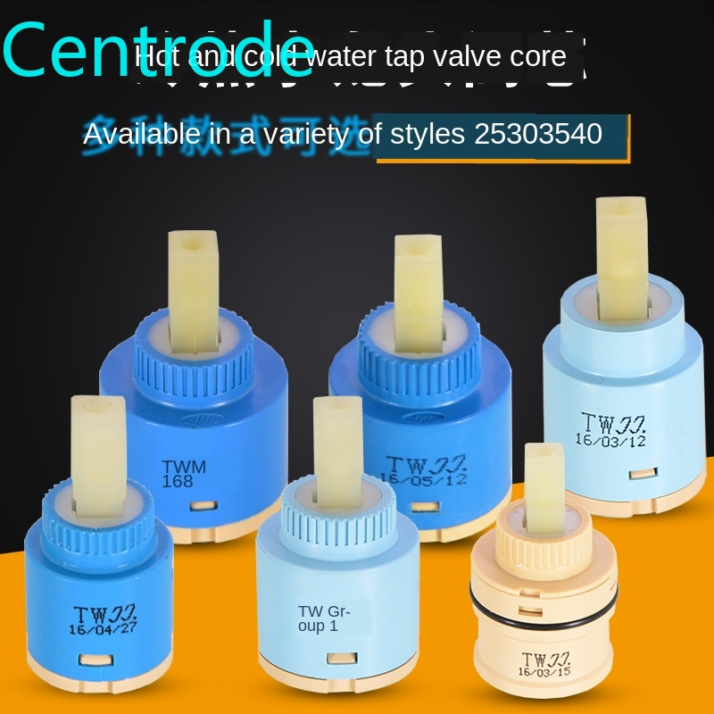 Kitchen Basin Faucet Ceramic Valve Core 25/35/40 Water Heater Water Mixing Valve Core Switch Repair Parts