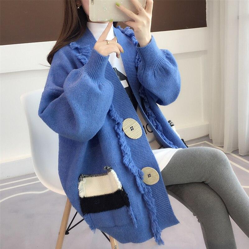 Women's Sweatercardigan Jacket Spring Autumn Sweater Women Clothes 2020 Korean Vintage Streetwear Tops Casaco Feminino ZT3058