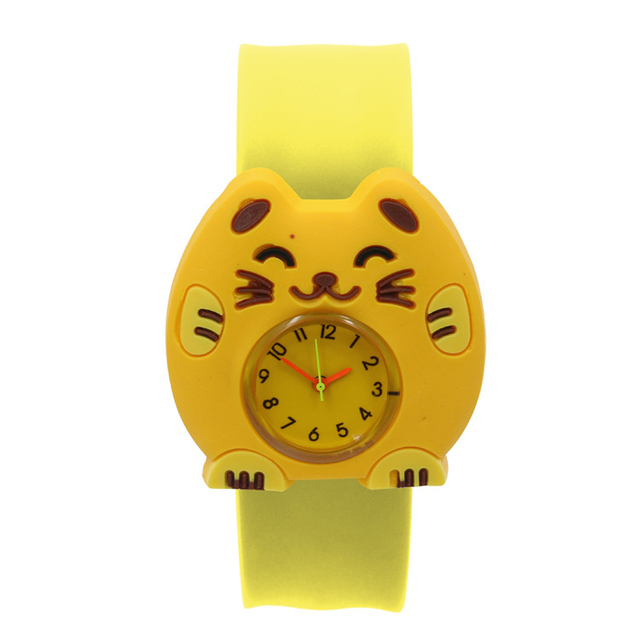 3D Annimals Children Watch Durable Interesting Gift Wrist Birthday Sweet Toys Patted Table Cartoon Pattern Student Silicone TapeElectronic Toys
