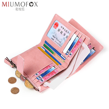Genuine Leather Wallet Female Women Short Wallets Coin Purse Versatile Small Card Holder Wallet Fashion Brand Purse Rfid Design
