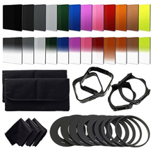 24pcs ND + Graduated Filters + 9pcs Adapter Ring, Lens Hood Filter Holder for cokin p series цена 2017