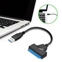 Компьютерные аксессуары USB 2,0 к SATA 22pin адаптер конвертер кабель для 2.5in HDD жесткие диски SSD 480 Мбит/с максимум 3 ТБ жесткого диска
