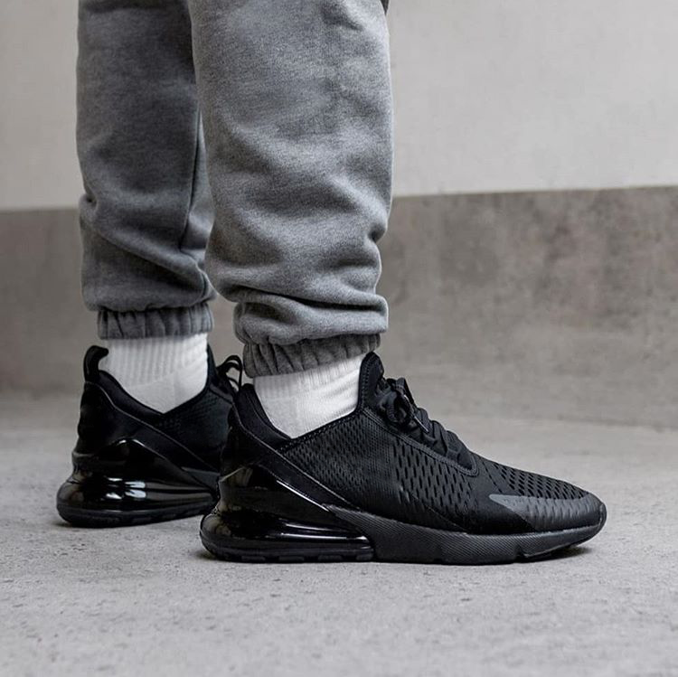 Black Color Air Maxs 270 Shoes Sneakers Comfortable Men Running Shoes Casual Shoes Breathable Lightweight Lace-up Mesh Shoes