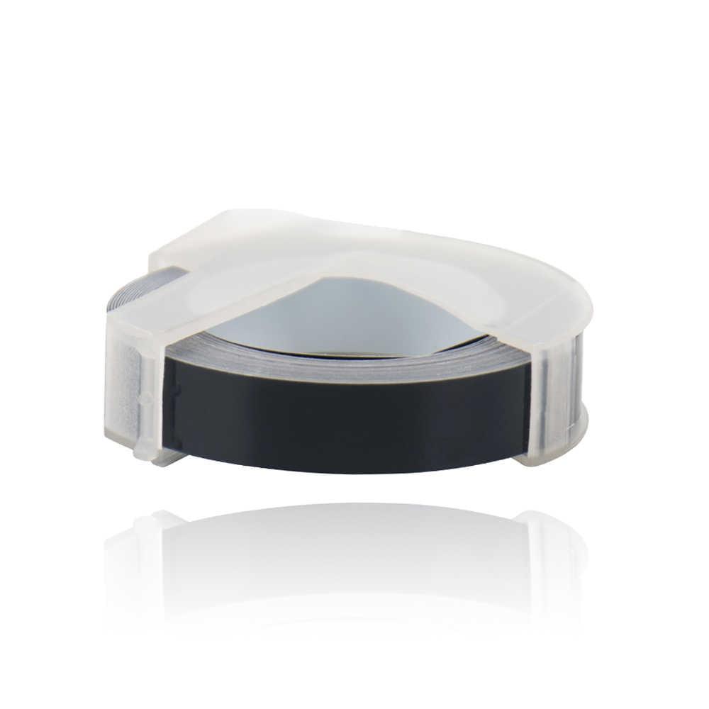CIDY 3 לחמניות 9MM 12MM 6MM Dymo 3D פלסטיק שחור צבע הבלטות קלטות עבור הבלטות תווית מקבלי DYMO 1011 1610 12965 MOTEX E101