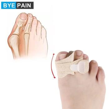 2 uds. Corrector acolchado para dedos de los pies BYEPAIN, separador de dedos torcidos, envoltura de dedos rotos, martillo, férulas para dedos