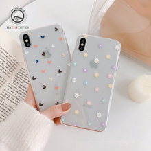 Love Pattern Cover Case For Iphone X XS Phone 6 6s 7 7plus 8 8plus Soft Silicone Transparent