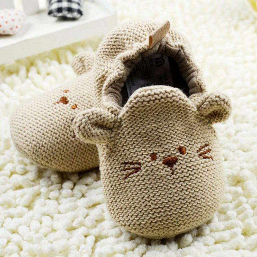 0-18M Toddler Baby Knit Crib Shoes Newborn Boys Girls Cartoon First Walkers Shoes Schoenen