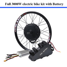 70-80km/h 135mm dropouts 60v 3000w electric bike coversion kit 60V 24.5ah 3000W ebike lithium battery pack included(China)
