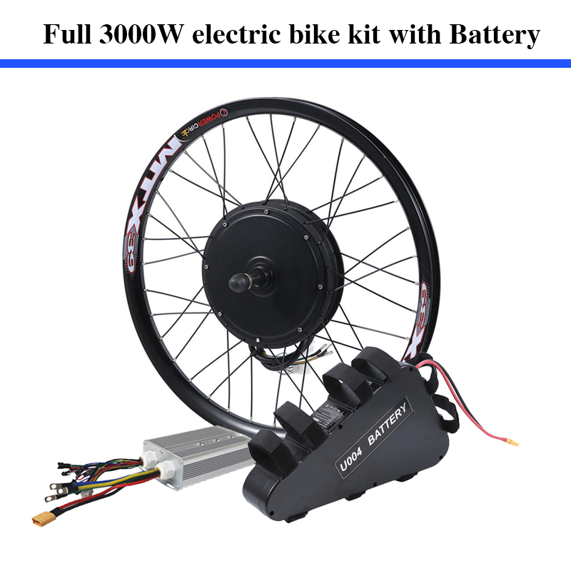 70-80km/h 135mm dropouts 60v 3000w electric <font><b>bike</b></font> coversion kit 60V 24.5ah 3000W ebike lithium battery pack included image