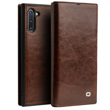 Luxury Retro Wallet Cases For Samsung Galaxy Note 10+ 5G Genuine Leather Flip Cover Card slot For Galaxy S10 / Plus Case Cover