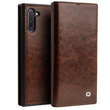 Étuis portefeuille rétro de luxe pour Samsung Galaxy Note 10 + 5G en cuir véritable couvercle rabattable fente pour carte Galaxy S10 / Plus housse