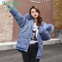Parka Women's Long Down Winter Jacket women Fur Collar Full-sleeve Hooded Female Jacket Warm Thick Long Coat Women's Coat цены онлайн