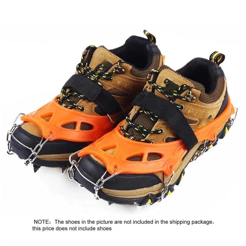 19 Teeth Anti-skid Climbing Crampons Mini Spikes Footwear Ice Traction Safe Protect for Walking Jogging Hiking on Snow Ice