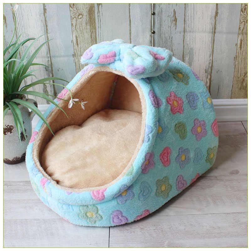 ペットベッド犬小屋の犬小屋子犬猫砂のベッドホーム形状巣ソファ屋内小型犬猫クッションリムーバブル枕チワワマット