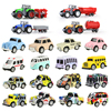 12 Styles Mini Diecast Car Alloy Pull Back Vehicles Model Toy Engineering Truck Taxi Bus Toys Car For Boy Kids Collection Gift