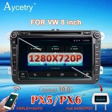 Radio samochodowe PX6 2 Din Android 10 multimedialny odtwarzacz dvd autoradio GPS dla VW/Volkswagen/Golf/Polo/Passat/b7/b6/SEAT/leon/Skoda 2din