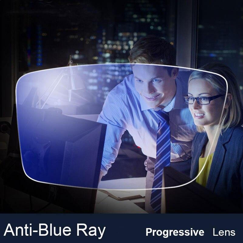 AZB 1 paire 1.56 1.61 1.67 Anti-Blue Ray lunettes lentille Progressive Prescription optique ordinateur lunettes lentille pour la Protection des yeux