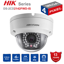 Hik Original DS 2CD2142FWD IS 4MP POE IP Camera Day night Infrared 3D DNR 3 axis