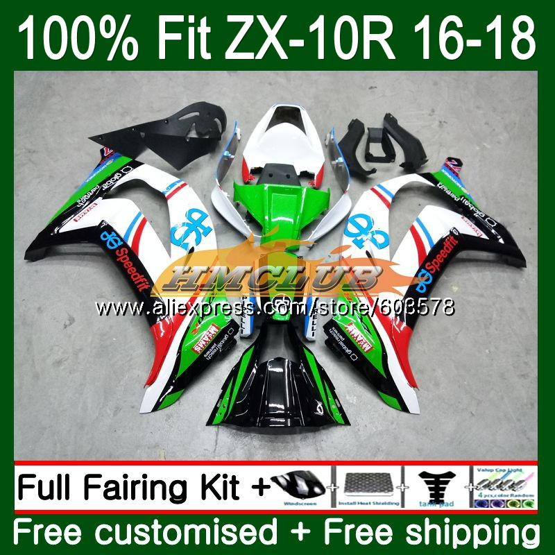 Injection For KAWASAKI ZX-10R 1000CC ZX10R 16 17 18 Factory green 120CL.<font><b>63</b></font> ZX1000 ZX <font><b>1000</b></font> ZX 10 R 10R 2016 2017 2018 OEM Fairing image