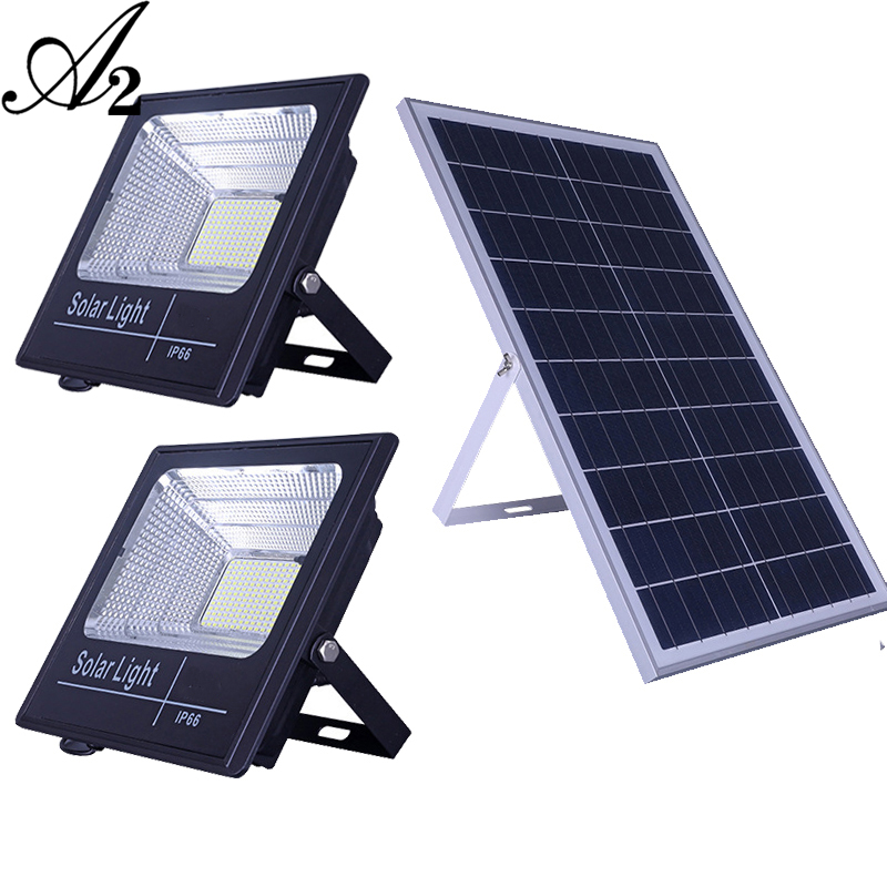 A2 Solar Light Double Head Solar Lamp15wSuper Bright 12000mA Battery Wireless Outdoor Garden Waterproof Large Solar Panel Light