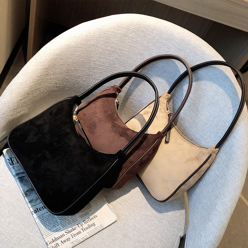 Vintage Women Bags Fashion Vintage Crossbody Bag Female New Scrub Shoulder Bag French Style Underarm Bag Bolso Mujer