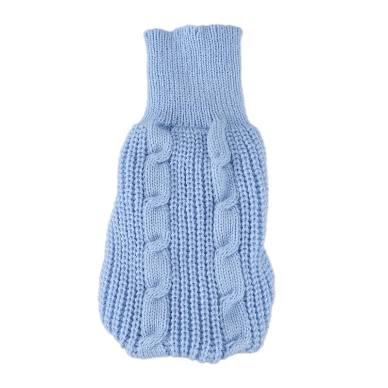 Turtleneck Tea Cup Poodle Winter Sweater Clothing Apparel Blue XXS