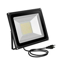 30W/ 100W LED Flood Light IP65 Waterproof led garage light Garden Lighting Night Lights AC 110V with US/ EU Plug Adapter