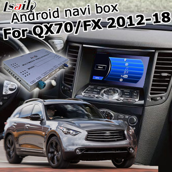 Android / carplay interface box for Infiniti QX70 FX37 FX50 FX 2010-17 with QX50 QX60 QX80 video interface GPS navigation Lsailt image