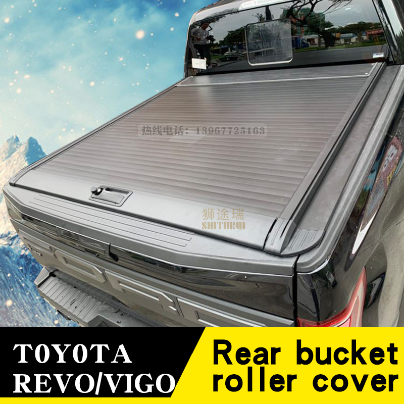 TOYOTA ROCCO  VIGO  REVO 2012- Pickup Modified Manual Roller Blinds Crew Cab Rear Cover Sliding Flat Cover
