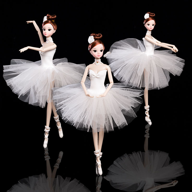 32cm Ballet Dancing Doll Joint Plastic Moveable Doll Toys Gift For Girls Fashion Handmade Dolls