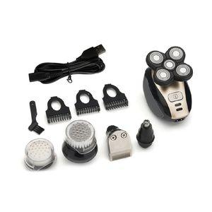Image 2 - Neue 5 kopf Elektrische Rasur Razor Ricoh Rasieren Männer 4D Wasserdichte USB Aufladbare Multifunktions Rasierer