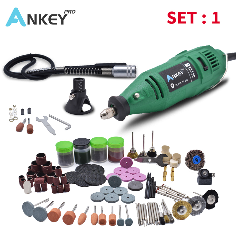180W Electric Grinder Mini Tool Engraving Dremel Electric Tools Power Rotary Pen DIY Machine Grinder Tool Rotary Grinding Drill