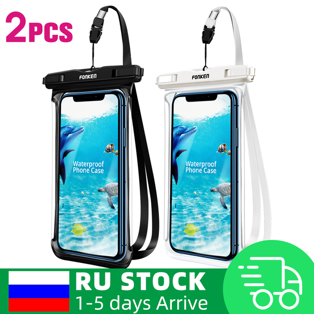מגן לטלפון נגד מים 2PCS  1