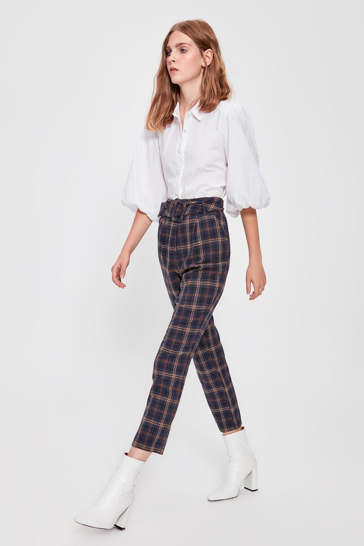 Trendyol Multicolour Plaid Pants TWOAW20PL0325