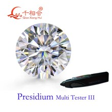 5mm to 12mm DF color white Round shape Brilliant cut moissanites loose stone can pass presidium 3 tester pen