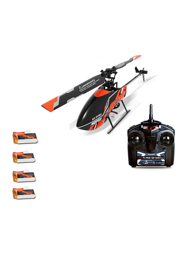 With More Batteries FIREFOX C119 RC Helicopter 4CH 6 Axis Gyro Flybarless RTF 2.4GHz VS WLtoys V911S Upgrade Edition