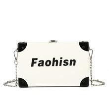 Women bag casual printing fashion chain square box bag simple wild shoulder messenger bag lady handbags цена 2017