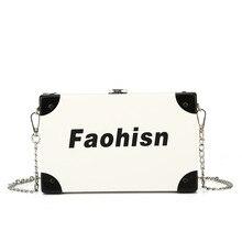 Women bag casual printing fashion chain square box simple wild shoulder messenger lady handbags