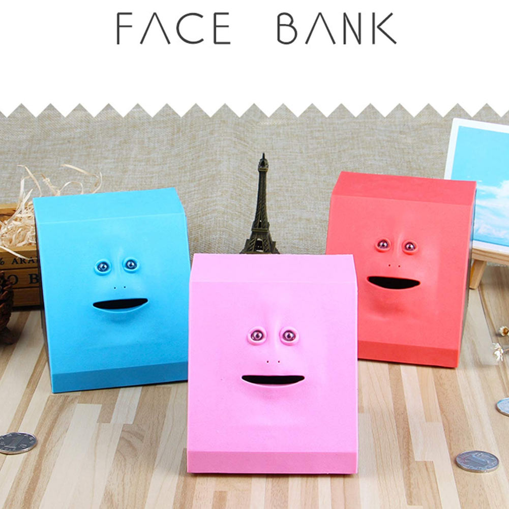 Face Money Eating Coin Bank Battery Powered Saving Box Kids Toys Gifts SP99