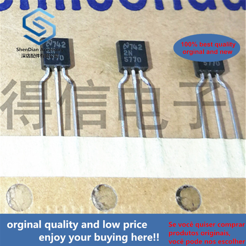 10pcs 100% Orginal New  2N5770 5770  TO-92 NPN SILICON PLANAR EPITAXIAL TRANSISTOR Real Photo