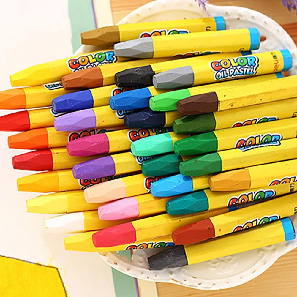 12/18/24/36 Color Non-Toxic Kids Wax Crayon Stick Painting Drawing Sketching Oil Pastel Combination Offer Gift