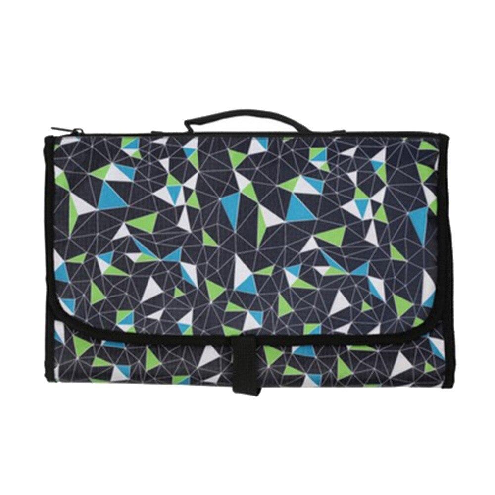 Новые 3 в 1 Водонепроницаемый пеленальный коврик пеленки мнчества, Портативный чехол для детских подгузников коврик чистой ручной складной сумка из узорчатой ткани - Цвет: CPD028
