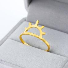 Женское кольцо для солнца anillo hombre простое ювелирное изделие