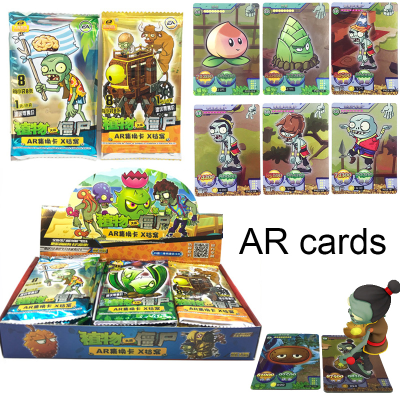 Board Game Flash Table Cards Plants Zombie Shining Cards VS Collections Children Toys AR Card Educational Kids Gifts