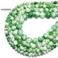 Grânulos de pedra redondos de jade persa branco verde colorido para fazer jóias 15 strand strand strand diy pulseira 6mm 8mm 10mm 12mm
