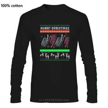 Men t-shirt Baritone Euphonium Ugly Christmas Sweater Style Design Gift(2) tshirt Women t shirt image