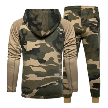 Men Sets Camouflage Casual Tracksuit 2020  2