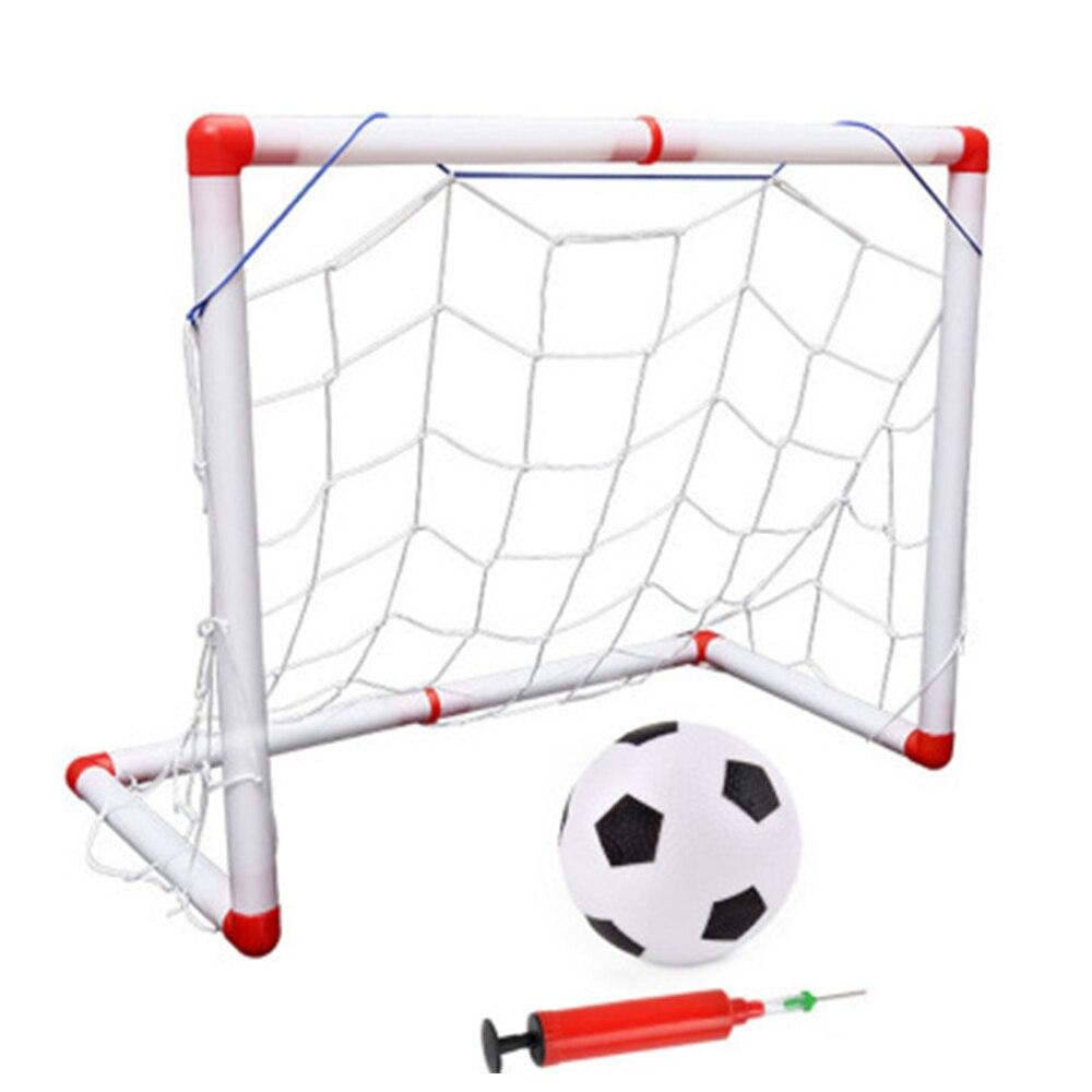 WISHOME Mini Soccer Football Goal For Kids Portable Goal Set Square Soccer Goal Net For Backyard Futbol Gate Indoor Family Toy