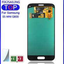 Layar 100% Diuji Bekerja Super AMOLED LCD Touch Screen Perakitan Digitizer untuk Samsung Galaxy S5 Mini G800 G800F G800H(China)