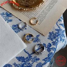 Pofunuo 2020 Новое Открытое кольцо из стерлингового серебра